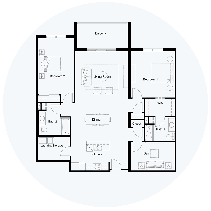 Floor Plan Unit B