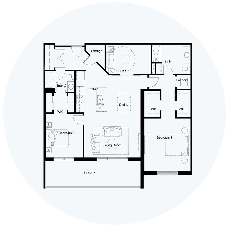 Floor Plan Unit F