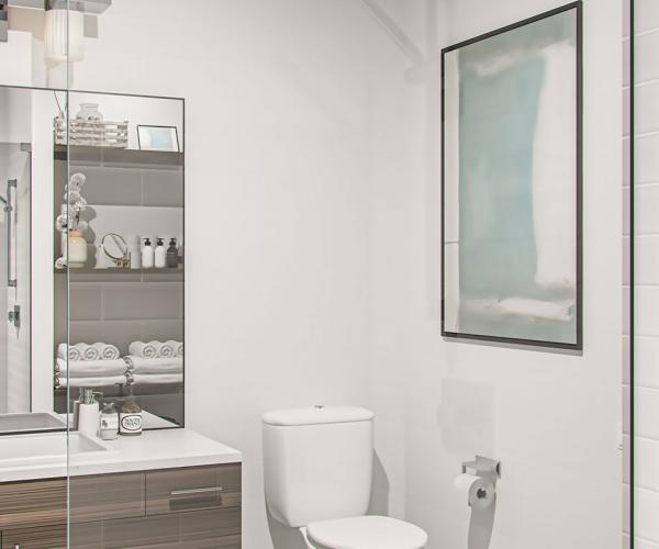 Bathroom interior banner